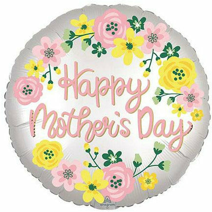 "Mother's Day Spring Flowers 18"" Mylar Balloon"