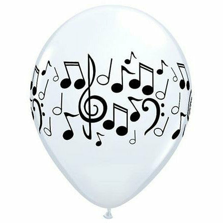 "Music Notes 11"" Latex Balloon"