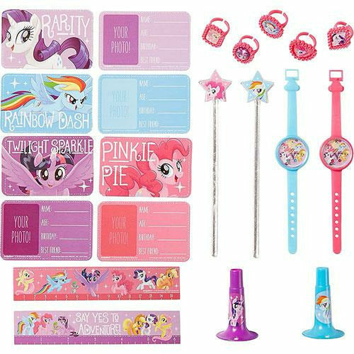 Blue, Pink & Purple My Little Pony Favor Pack 48pc