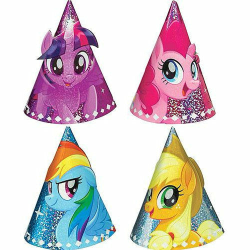 Mini Prismatic My Little Pony Party Hats 8ct