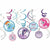 Blue, Pink & Purple My Little Pony Swirl Decorations 12ct