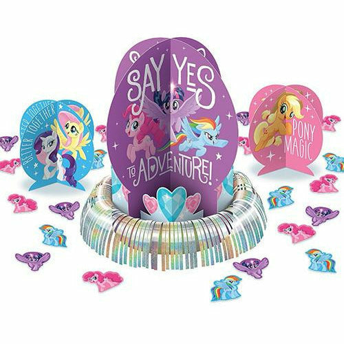 Blue, Pink & Purple My Little Pony Table Decorating Kit 23pc