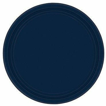 True Navy Blue Paper Dessert Plates 20ct