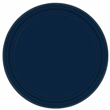 True Navy Blue Paper Lunch Plates 20ct
