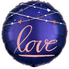 "549 Blue and Pink Love 18"" Mylar Balloon"