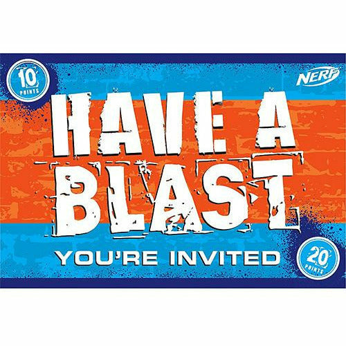 Nerf Invitations 8ct