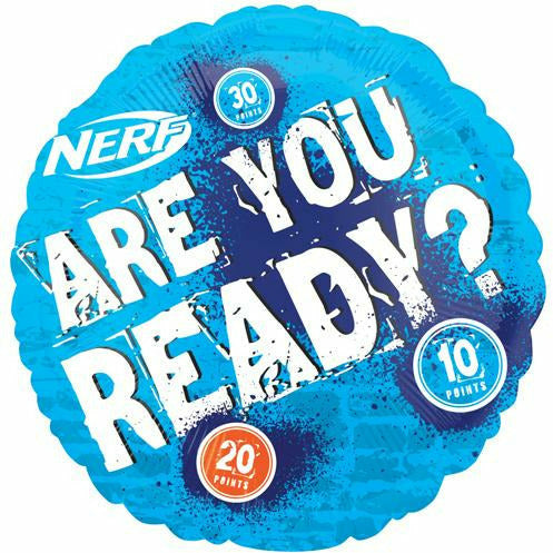 "165 Nerf Are you Ready 18"" Mylar Balloon"