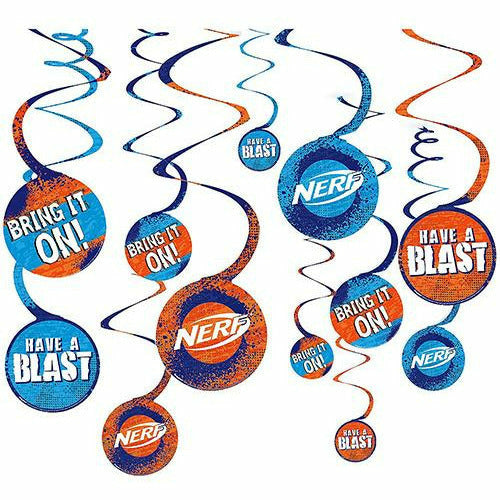 Nerf Swirl Decorations 12ct