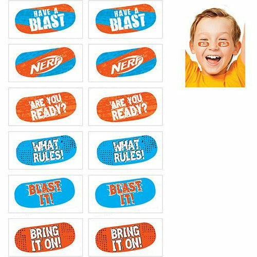 Nerf Face Tattoos 12ct