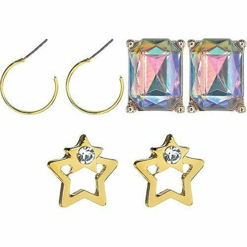 New Year's Eve Gold Earring Set 6pc