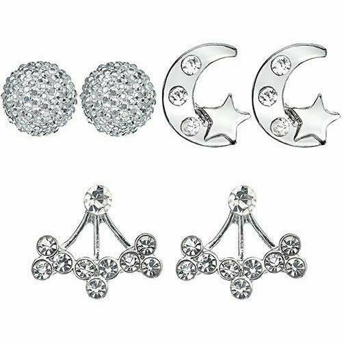 New Year's Eve Silver Earring Set 6pc