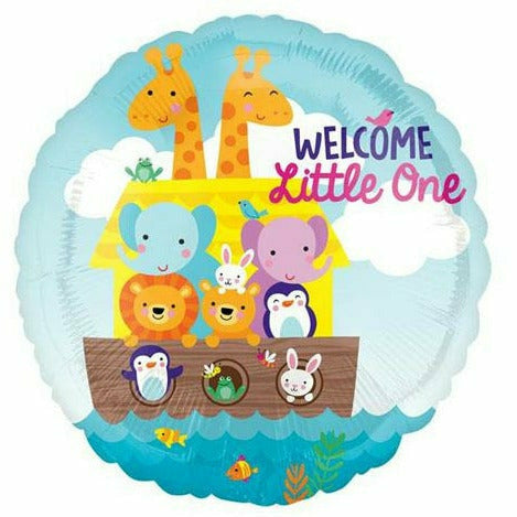 "528 Noah's Ark Welcome Little One 17"" Mylar Balloon"