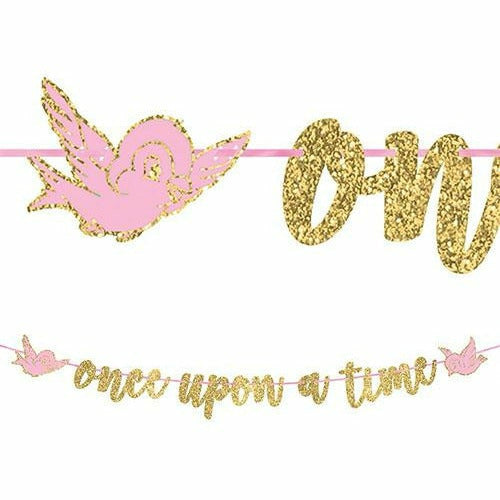 Glitter Disney Once Upon a Time Letter Banner