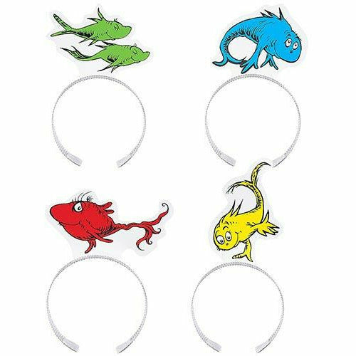 One Fish Two Fish Red Fish Blue Fish Headbands 12ct - Dr. Seuss