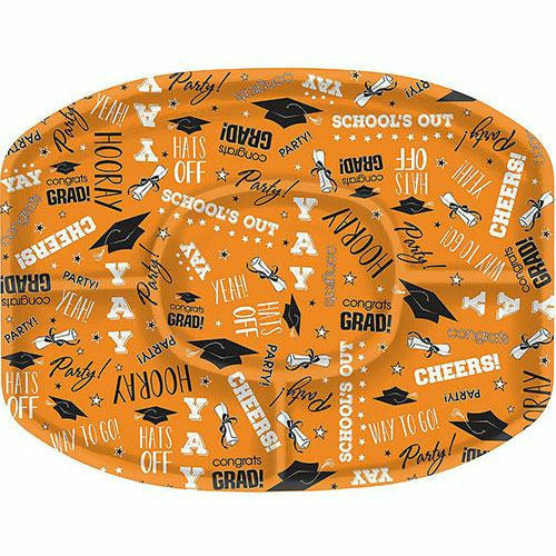 Orange Graduation Sectional Platter
