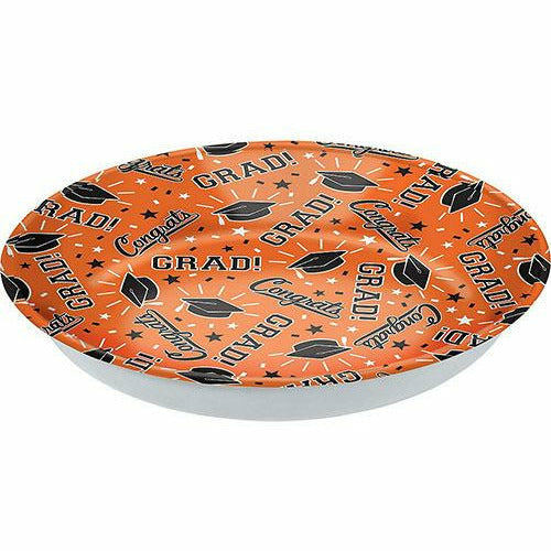 Orange Congrats Grad Serving Bowl
