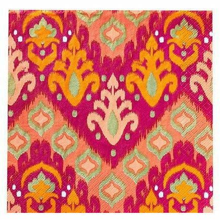 Orange Ikat Lunch Napkins 16ct