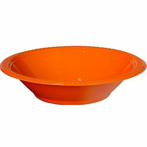Orange Plastic Bowls 20ct