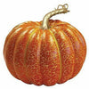 Orange Crackle Pumpkin Decoration