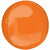 "083 Orange Orbz 16"" Mylar Balloon"