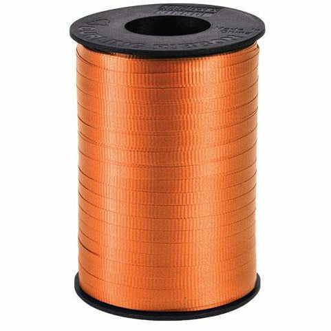"Orange Curling Ribbon 3/16"" x 500 Yards"