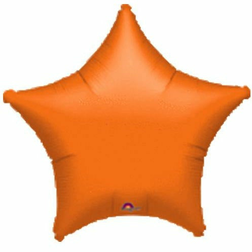 "012 Orange Metallic Star 19"" Mylar Balloon"