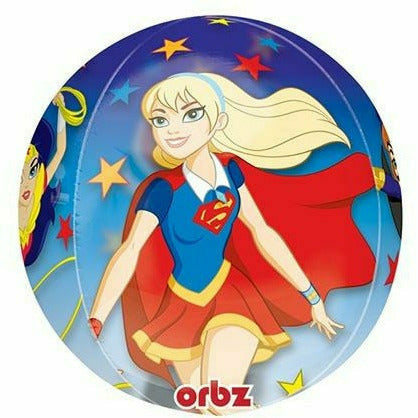 "173A DC Super Hero Girls Orbz 16"" Mylar Balloon"