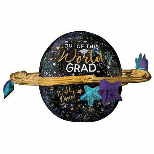 "Out of this World Grad Jumbo 29"" Mylar Balloon"