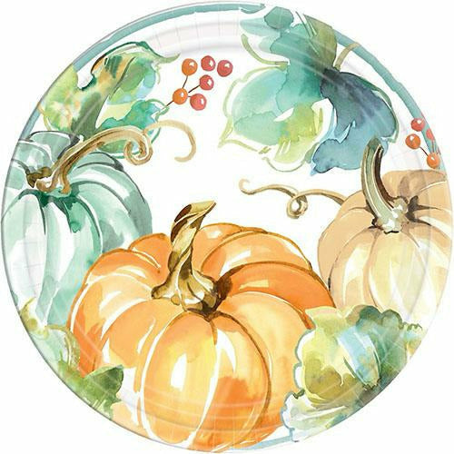 Painted Fall Dinner Plates 8ct