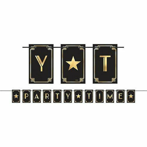 Party Time Hollywood Letter Banner