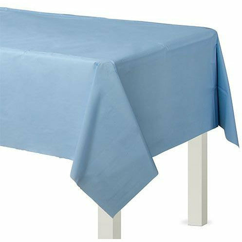 Pastel Blue Plastic Table Cover