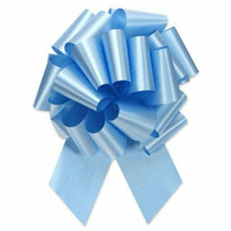 Pastel Blue Pull Bow 8in