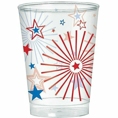 Patriotic Red, White & Blue Stars Plastic Cups 40ct