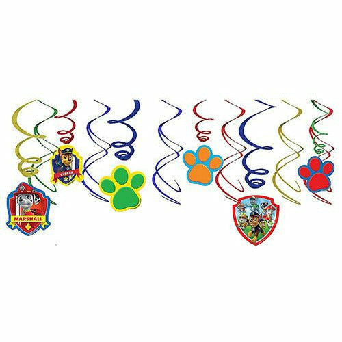 PAW Patrol Swirl Decorations 12ct