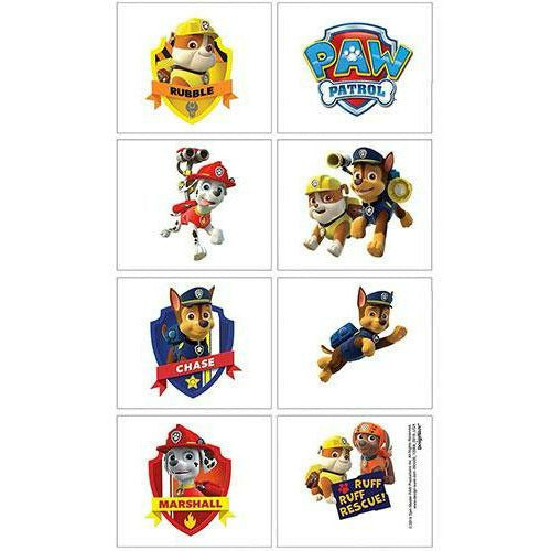 PAW Patrol Tattoos 1 Sheet