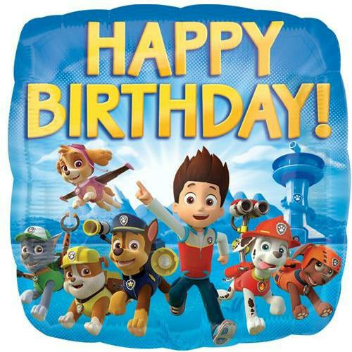 "156 Paw Patrol Happy Birthday 17"" Mylar Balloon"