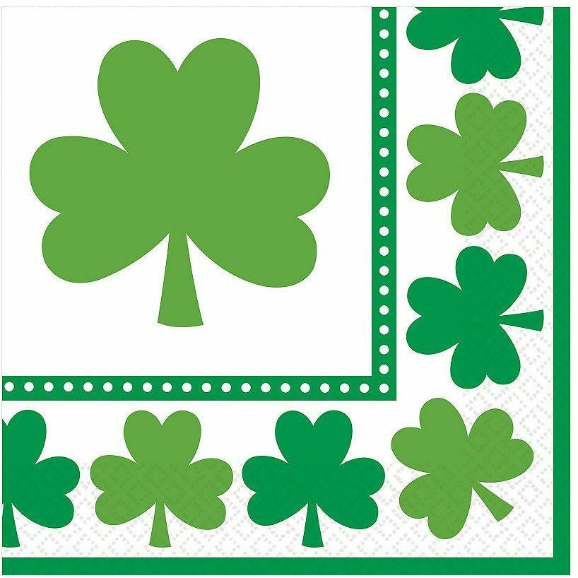 Lucky Shamrock Lunch Napkins 16ct