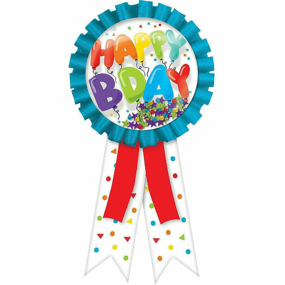 Confetti Shake Birthday Balloons Happy Bday Button