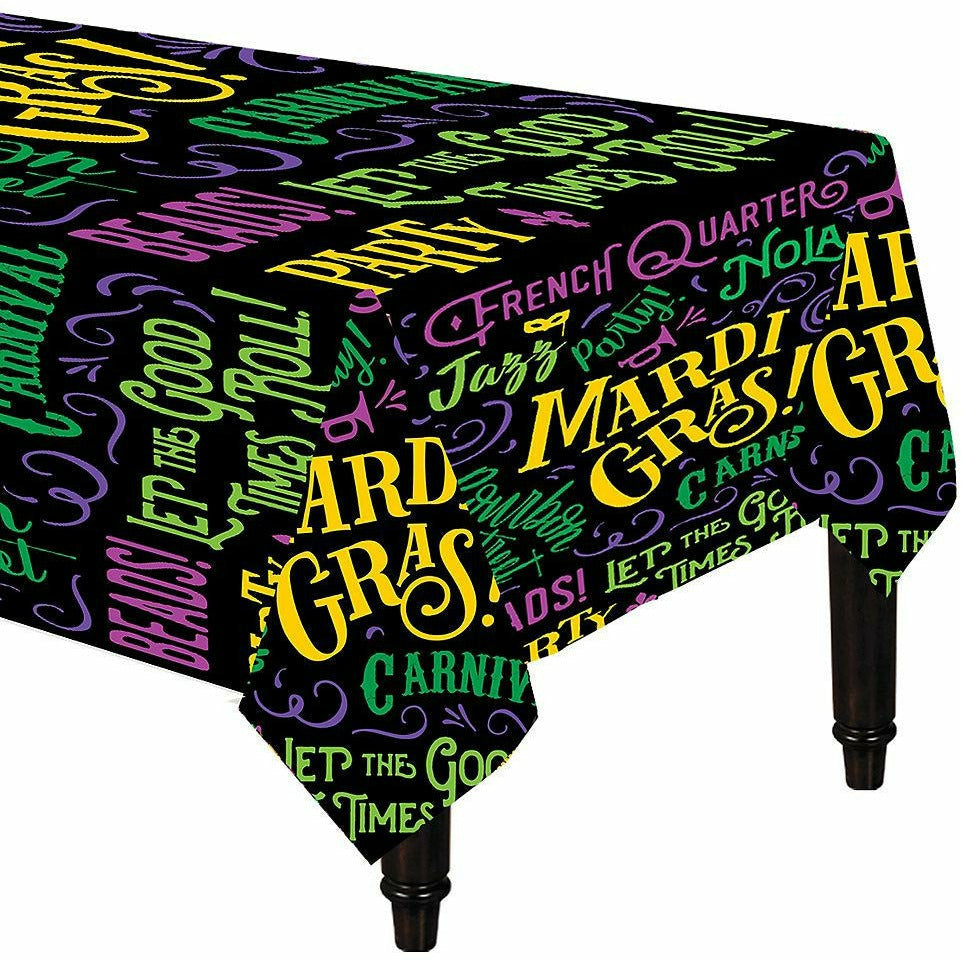 Good Times Mardi Gras Table Covers 3ct