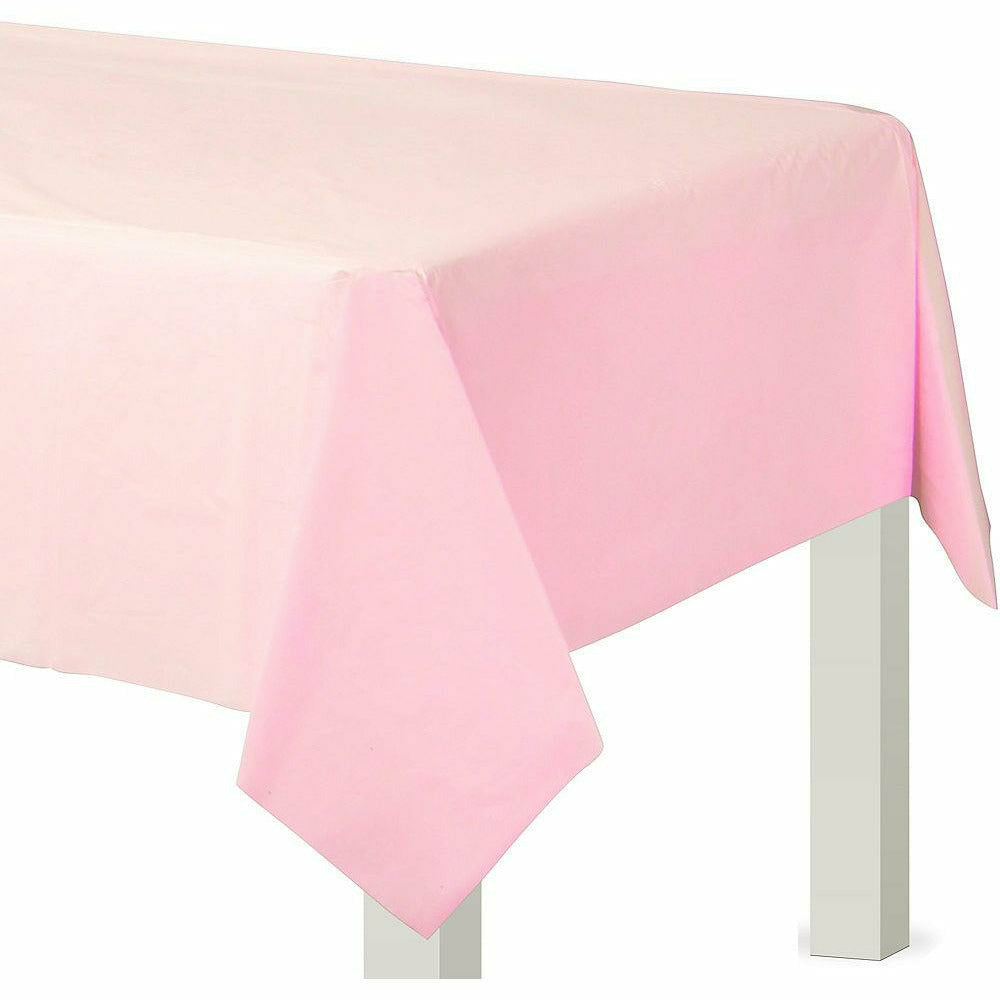 Blush Pink Plastic Table Cover