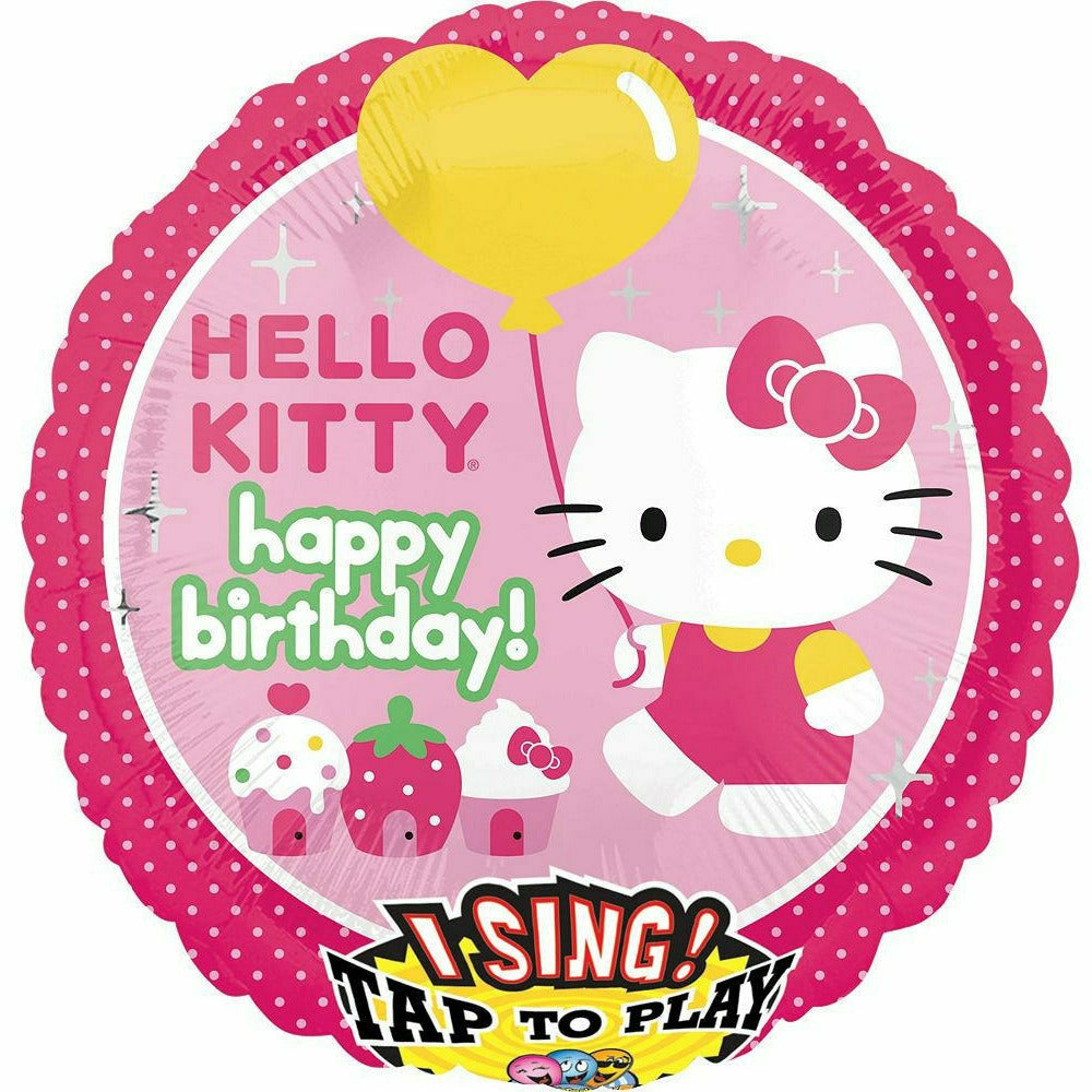 "*A003 Hello Kitty Singing Happy Birthday 28"" Mylar Balloon"