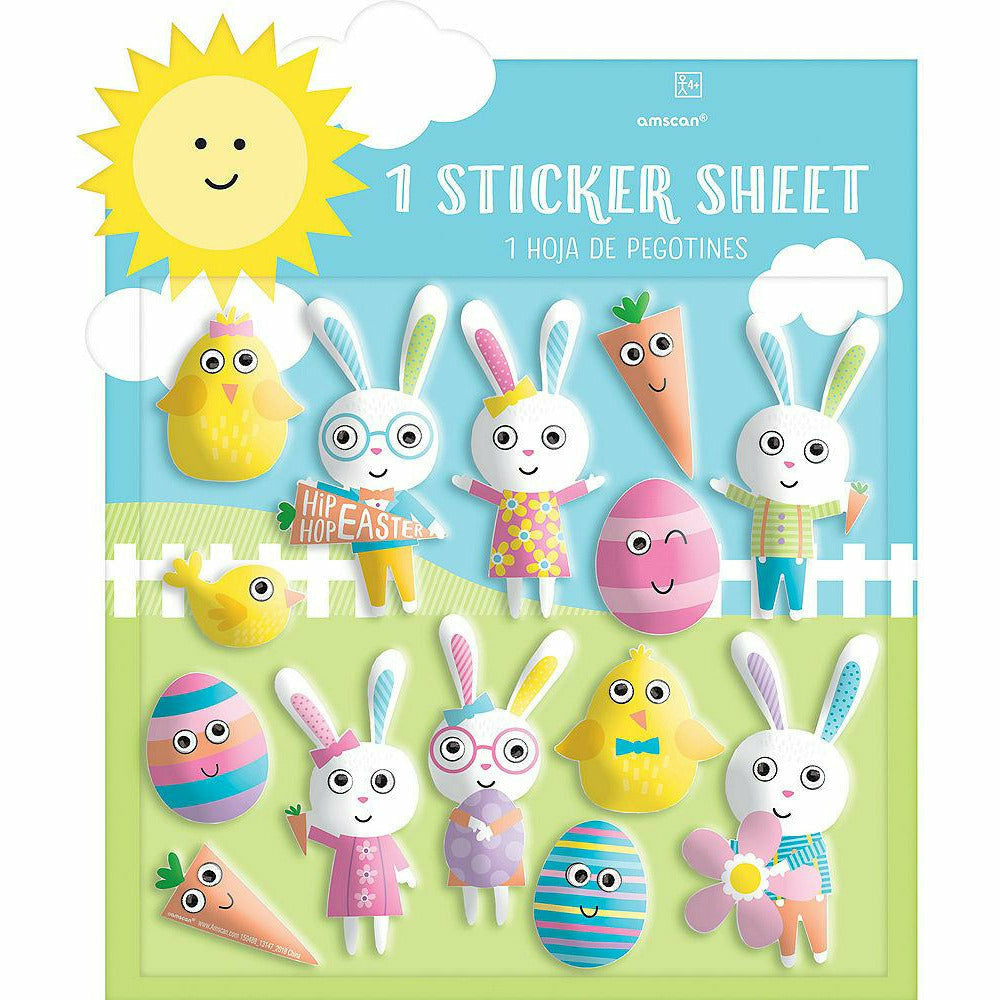 Easter Character Puffy Stickers 1 Sheet