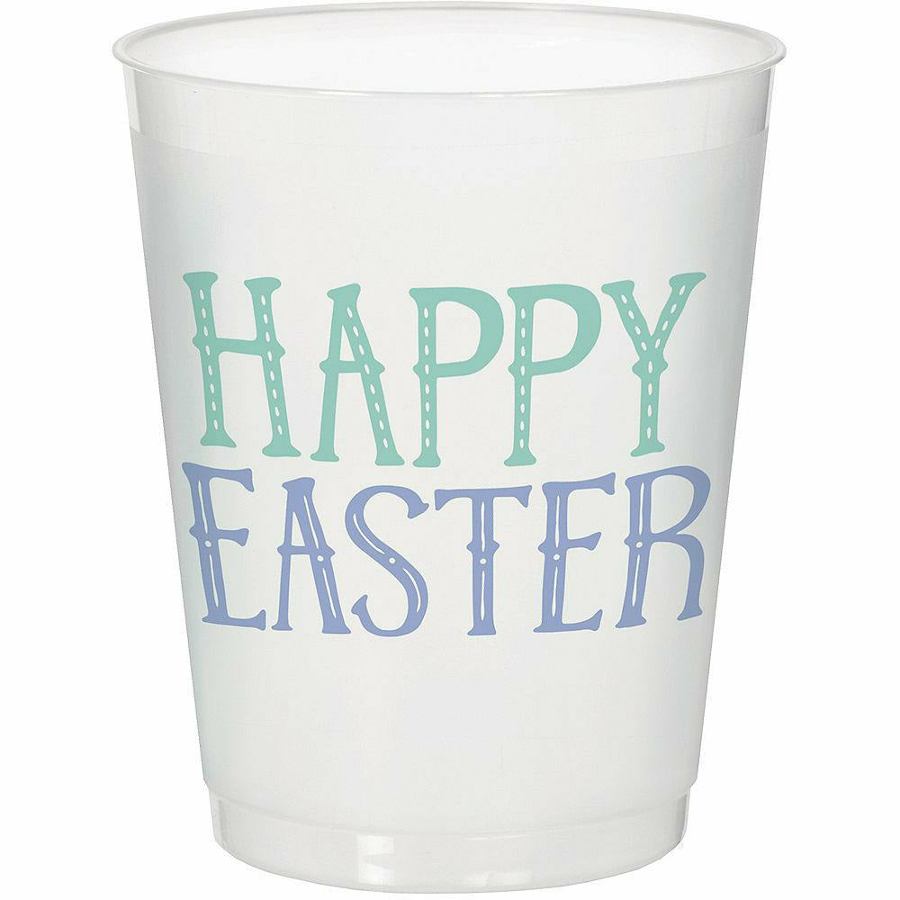 Happy Easter Frosted Stadium Cups 8ct