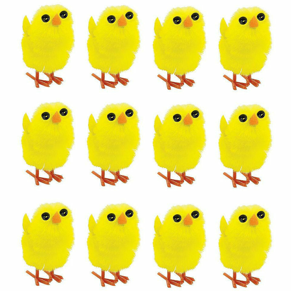 Chenille Easter Chicks 12ct