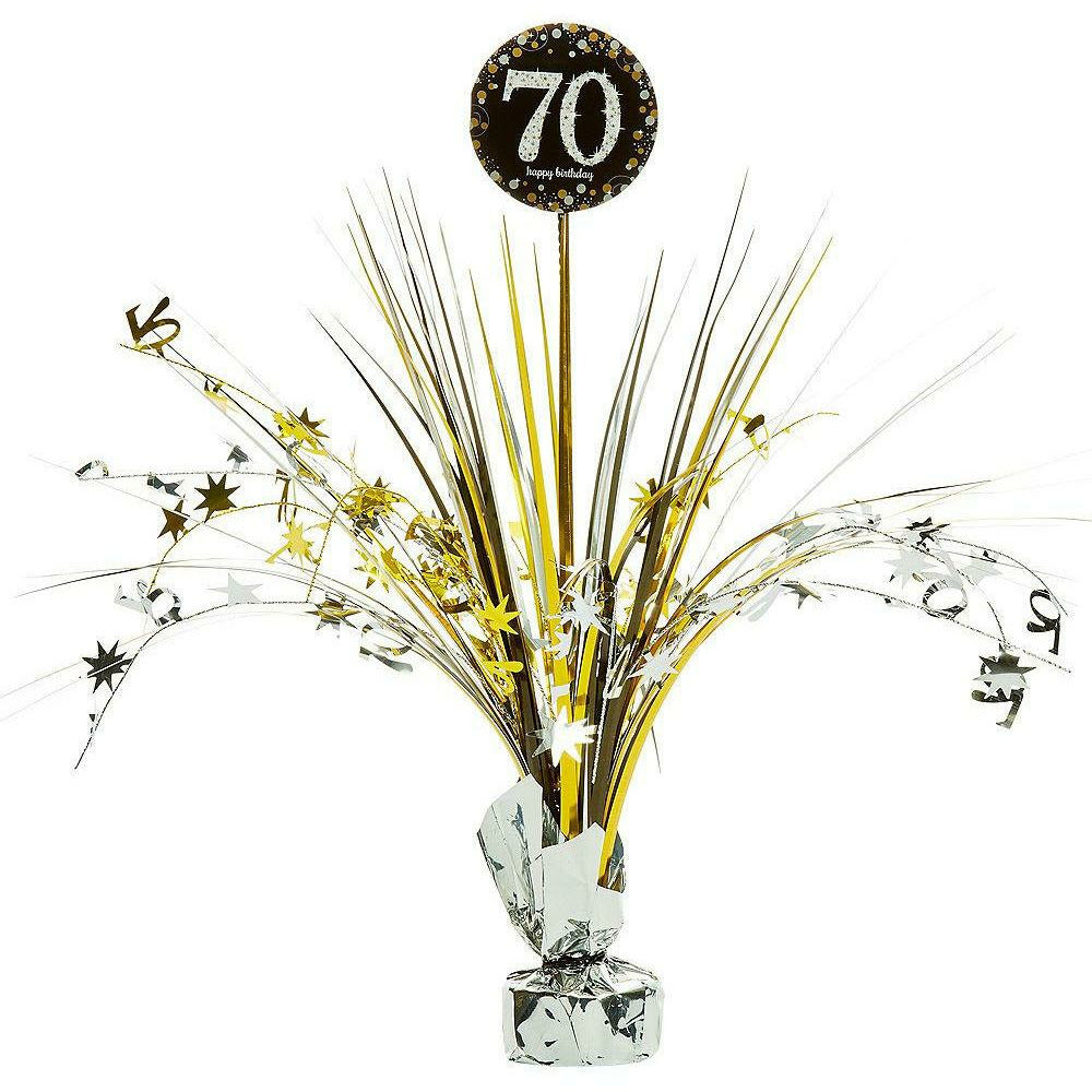 70th Birthday Spray Centerpiece - Sparkling Celebration