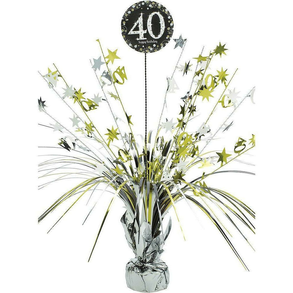 40th Birthday Spray Centerpiece - Sparkling Celebration