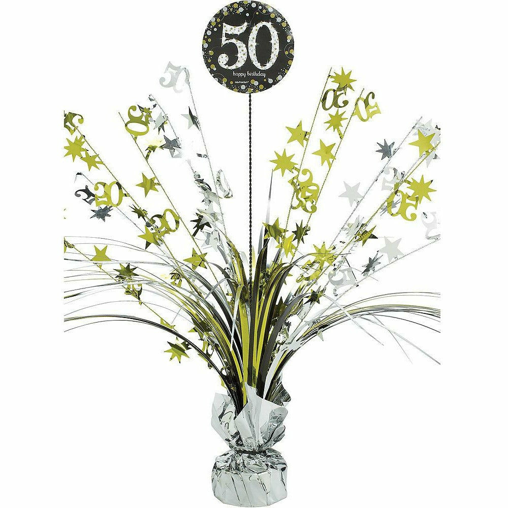 50th Birthday Spray Centerpiece - Sparkling Celebration