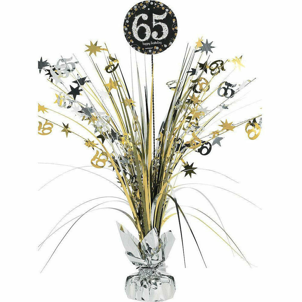 65th Birthday Spray Centerpiece - Sparkling Celebration