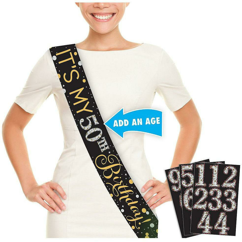 Sparkling Celebration Birthday Sash Kit
