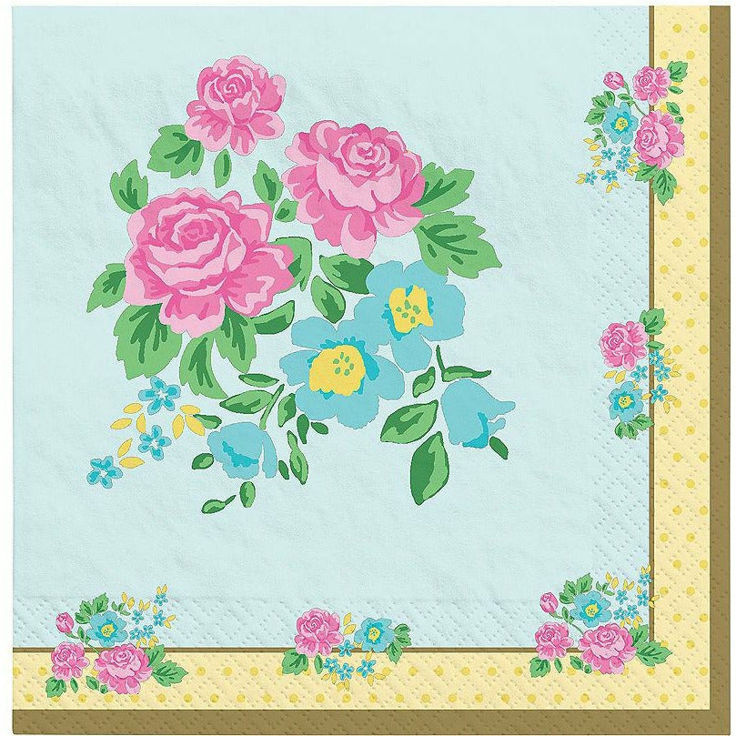 Tea Party Lunch Napkins 16ct